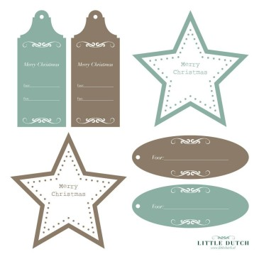 Kerstinpaktips en -labels van Little Dutch
