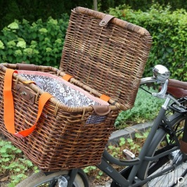 Tutorial Bag for your bicycle basket
