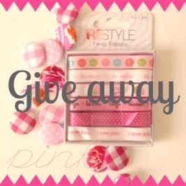 Give away: buttons and ribbon