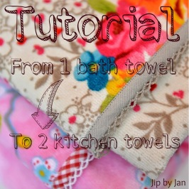 Tutorial Kitchen towel from bath towel