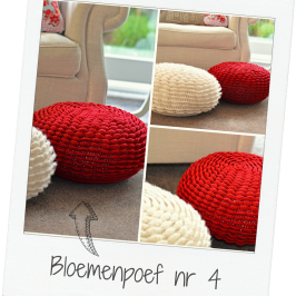Crochet flower pouf nr 4!