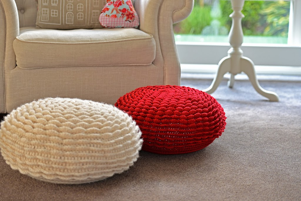 Yes, I made it! I finished flower pouf nr 4! ( youu2019ll find nr 1, 2 ...